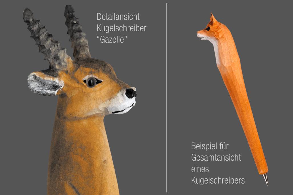 """Tier-Kugelschreiber """"Gazelle"""""""