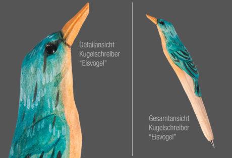 """Tier-Kugelschreiber """"Eisvogel"""""""