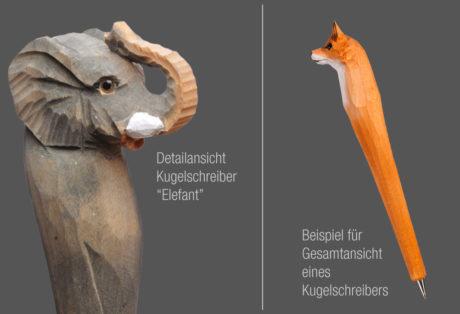 """Tier-Kugelschreiber """"Elefant"""""""