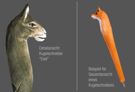 """Tier-Kugelschreiber """"Esel"""""""