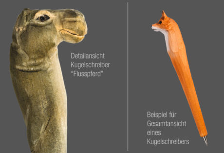"""Tier-Kugelschreiber """"Nilpferd"""""""