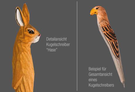 """Tier-Kugelschreiber """"Hase"""""""