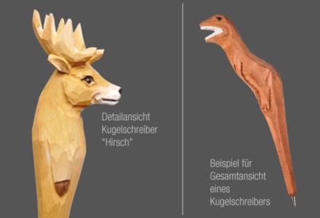 """Tier-Kugelschreiber """"Hirsch"""""""