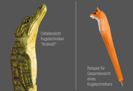 """Tier-Kugelschreiber """"Krokodil"""""""