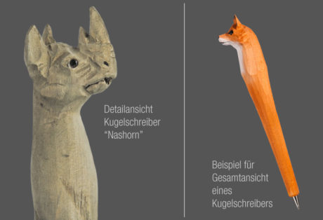 "Tier-Kugelschreiber ""Nashorn"""