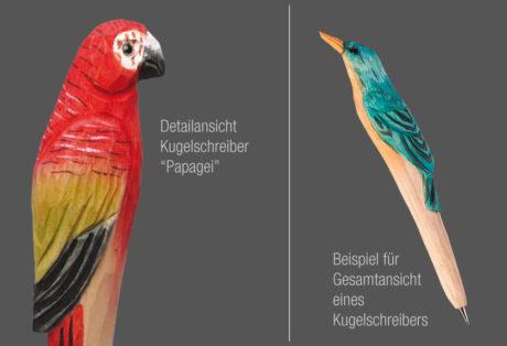 """Tier-Kugelschreiber """"Papagei"""""""