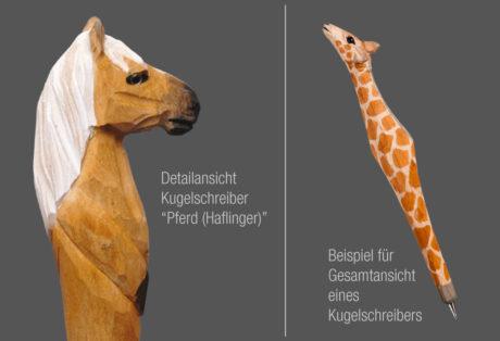 """Tier-Kugelschreiber """"Pferd 2"""" (Haflinger)"""