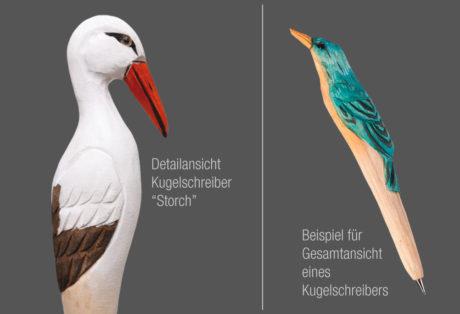 """Tier-Kugelschreiber """"Storch"""""""