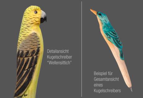 """Tier-Kugelschreiber """"Wellensittich"""""""