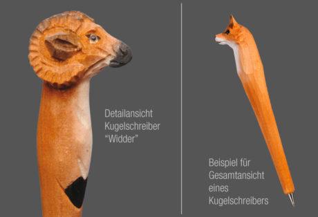 """Tier-Kugelschreiber """"Widder"""""""