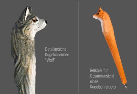 "Tier-Kugelschreiber ""Wolf"""