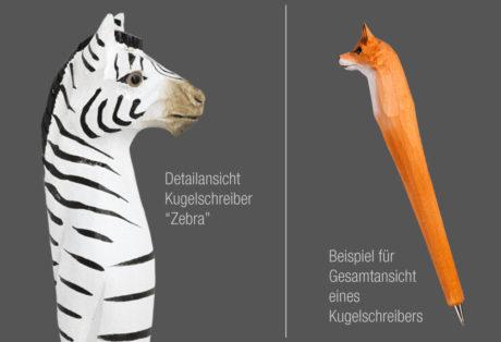"Tier-Kugelschreiber ""Zebra"""